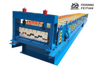 Metal Steel Floor Deck Roll Forming Machine Blue Color For Building Material