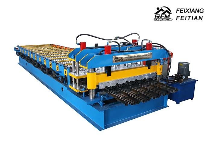 Galvanized Steel Glazed Tile Roll Forming Machine FX950 For Building Material