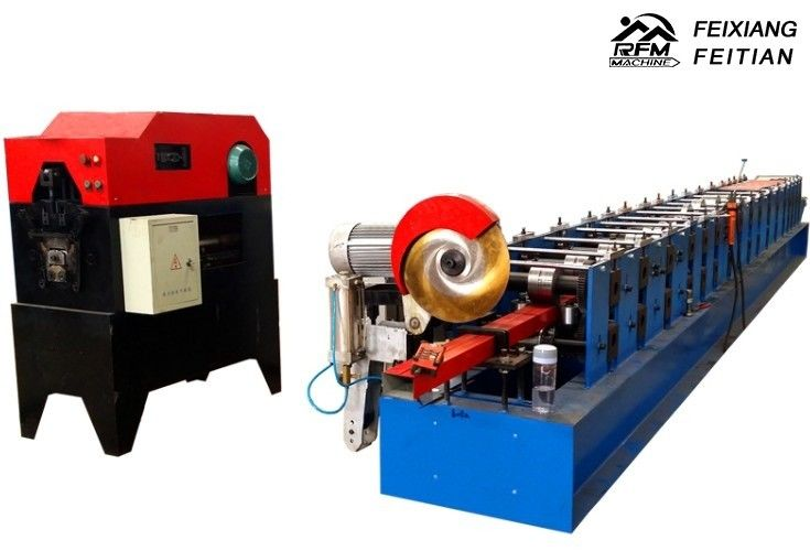 Automatic Downspout Roll Forming Machine 15 m/min Speed Gutter Making Machine